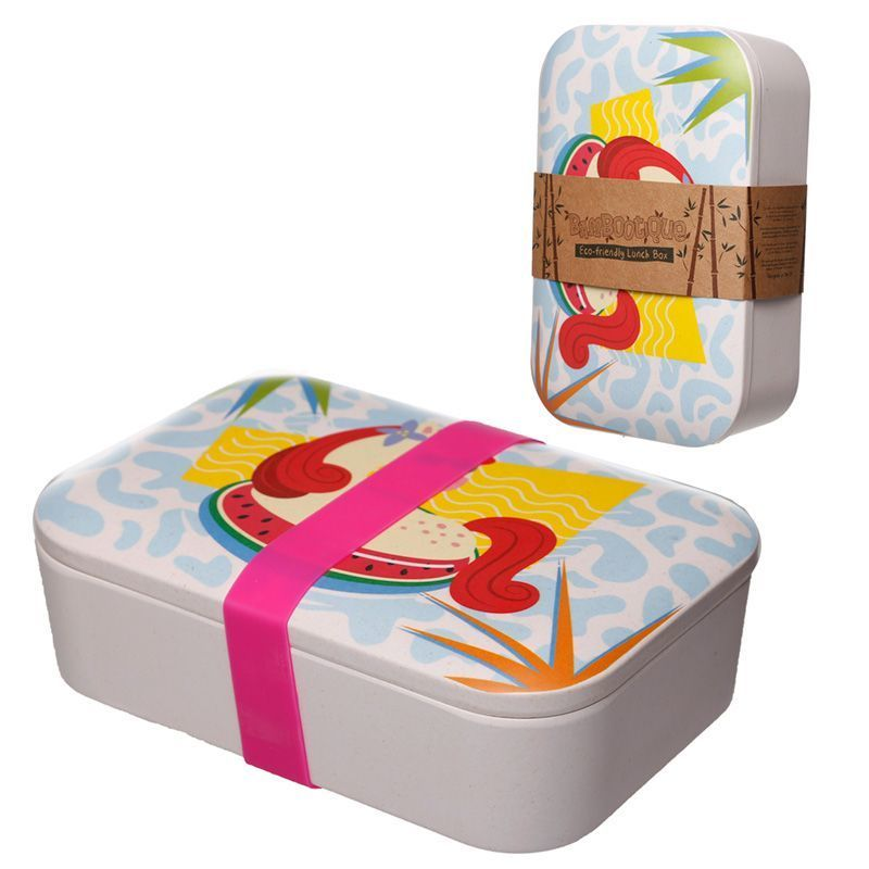 Bambootique Eco Friendly Tropical Unicorn Reusable Lunch Box