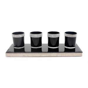 Black Candle Holder Set
