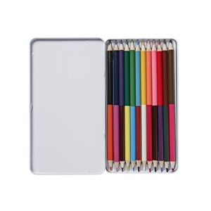 2 In 1 Colouring Pencils Tin 12Pcs