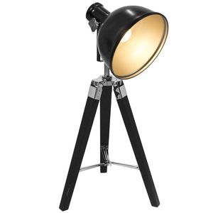 Tripod Table Lamp Black Silver