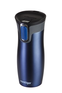 Stainless steel double wall vacuum insulated tumbler blue matt 16oz 470ml