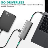 Promate All In One Usb C Hub 87W Pd 4 Usb Ports Grey