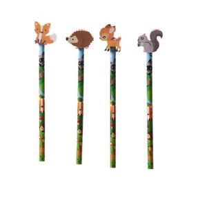 Novelty Kids Woodland Friends Eraser and Pencil