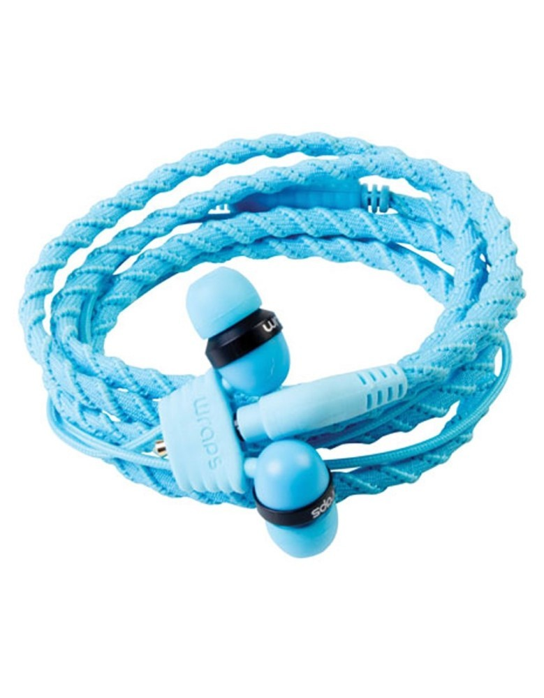 Wraps Classic Blue Talk Lagoon Earphones with Mic