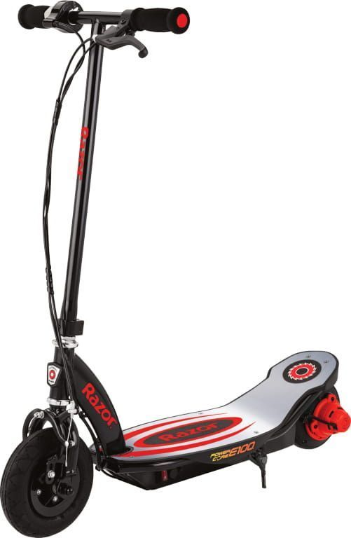 Power Core E100 Electric Scooter Red Aluminum Deck