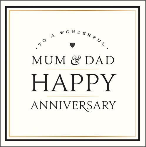 Mum Dad Anniversary Heart New