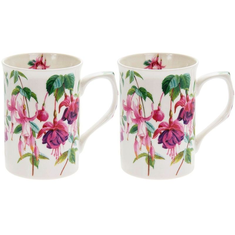 Fuschia Mugs Set 2