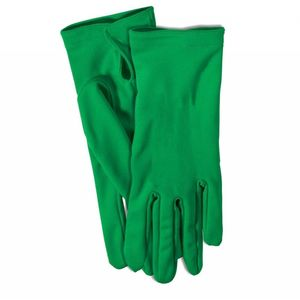 Short Colored Gloves Green