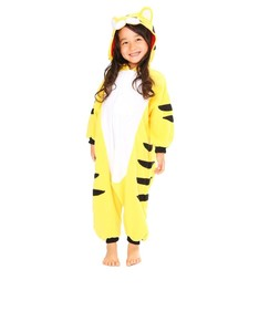 Tiger Fierce Kids Kigurumi Fleece Costume