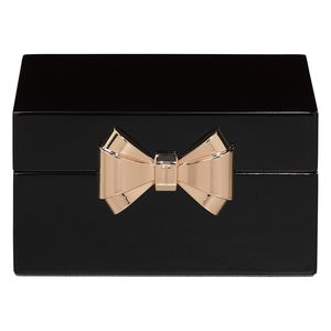 Lacquer Small Black Jewellery Box