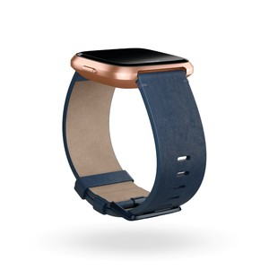 Fitbit Leather Band Midnight Blue Large for Versa
