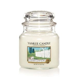 Yankee Candles Clean Cotton Classic Medium Jar Candle
