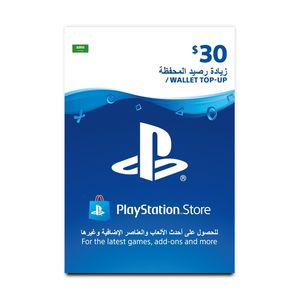 Playstation Network Topup Wallet 30 Usd [Digital Code]