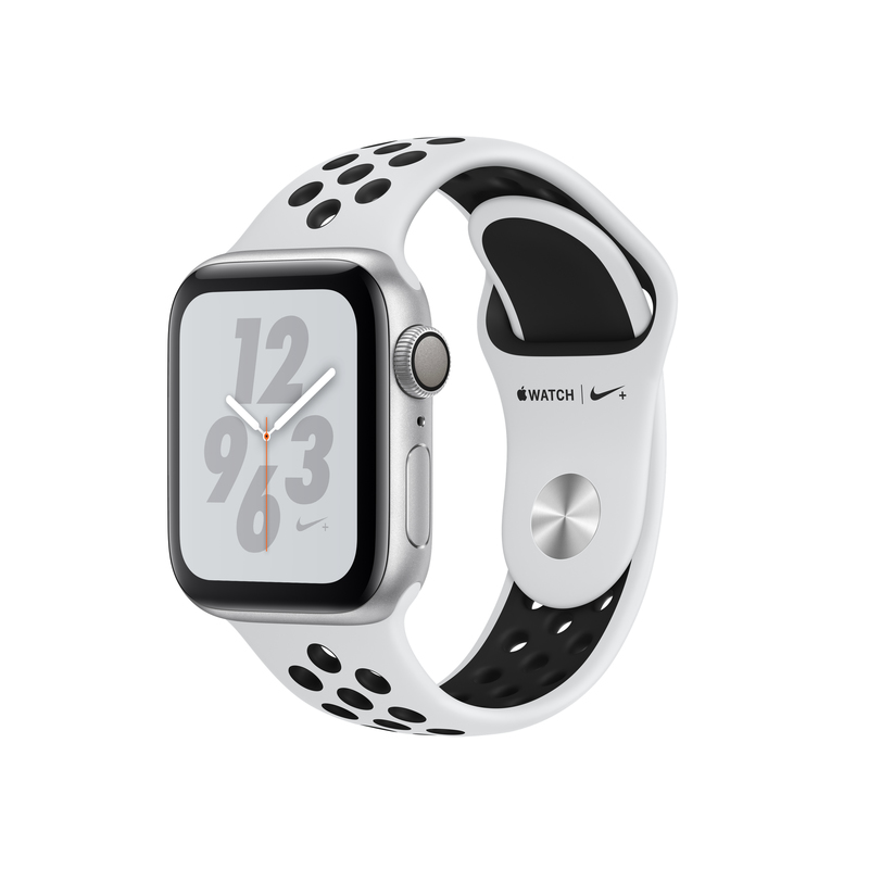 Apple Watch Nike+ Series 4 GPS 40mm Silver Aluminium Case with Pure Platinum/Black Nike Sport Band