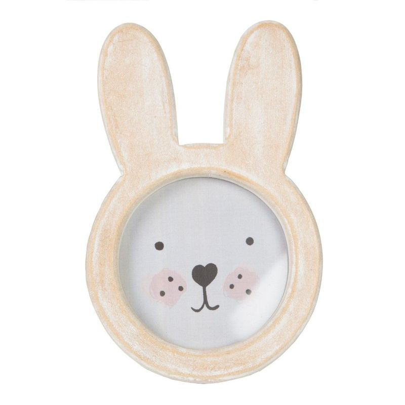 Bunny Face Rustic Wood Photo