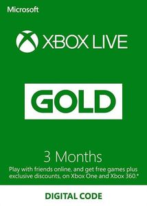 Xbox Live Gold 3 Months Subscription Usa