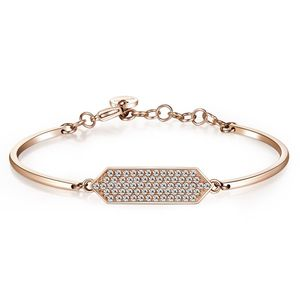 Bracelet Chakra Hexagon Rose Gold Pvd