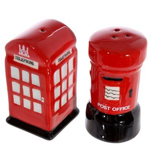 Novelty Ceramic Telephone And Letterboxsalt And Pepper Set