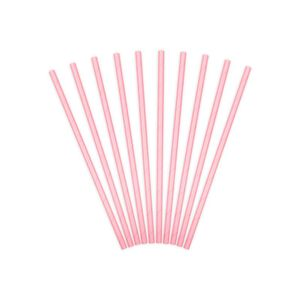 Paper Straws Light Pink 19.5cm 1 Ctn 50Pkt 1 Pkt 10 Pc.