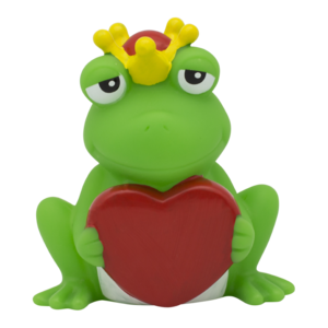 Frog with greeting heart design by LILALU
