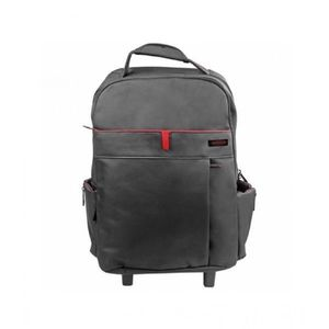 Promate Multi Purpose Trolley Bag For Laptop Black