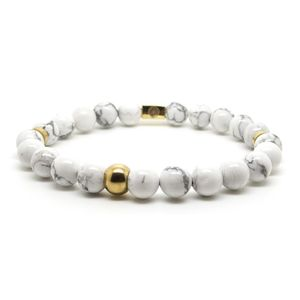 Beaded Howlite And Gold M