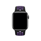 Apple 40mm Black/Hyper Grape Nike Sport Band – S/M & M/L