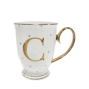 Alphabet spotty metallic mug letter c go