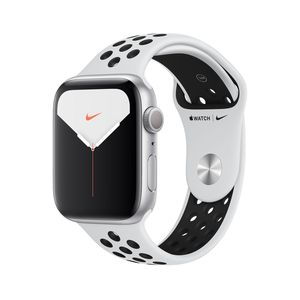 Apple Watch Nike Series 5 GPS 44mm Silver Aluminium Case with Pure Platinum/Black Nike Sport Band S/M & M/L