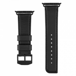Case-Mate Leather Black 42Mm Band For Apple Watch