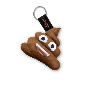 Emoji Vampire Poop Official Brown Keychain