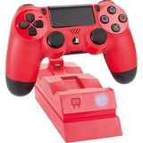 Ps4 Twin Docking Station Red New