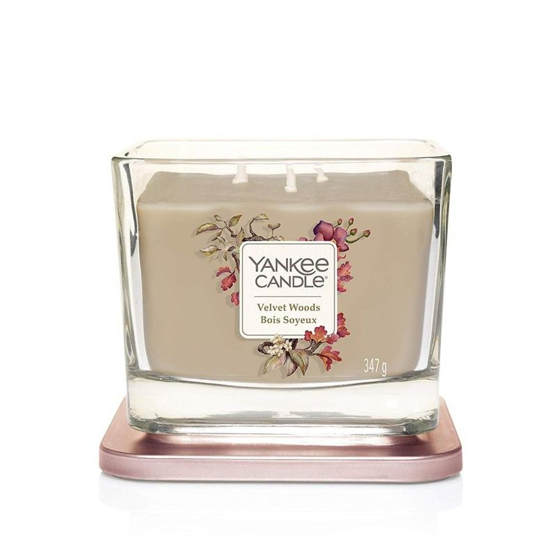 Yankee Candle Elevation Vessel Candle Velvet Woods M