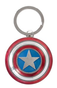 Captain America Shield Pewter Key Ring