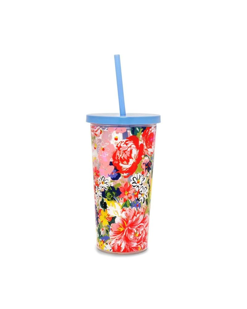 Sip Sip Tumbler with Straw Flower Shop