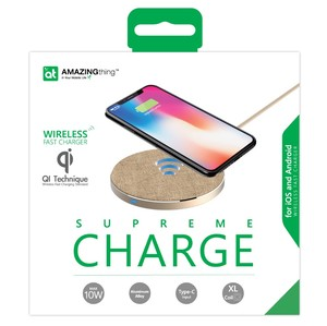 At Wireless Charger 10 W For Android And Iphone X And 8 Gold