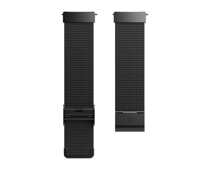Fitbit Metal Mesh Band Black Stainless Steel One Size For Versa