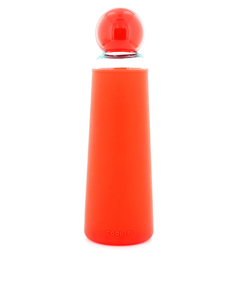 Ban.Do Pool It Glass Water Bottle Red/Clear