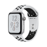 Apple Watch Nike+ Series 4 Gps 44Mm Silver Aluminium Case With Pure Platinum/Black Nike Sport Band