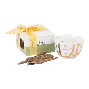 Oud Scented Ghida Candle In A Gift Box Gold Contains 22 Carat Gold