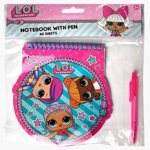 Round Spiral Notebook With Pen In Poly Bag With Header