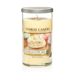 Yankee Candle Decor Medium Pillar Vanilla Cup Cake
