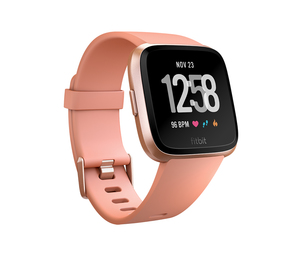 Fitbit Versa Peach/Rose Gold Aluminum Smart Watch