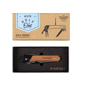 Golf Multi Tool Acacia Wood Titanium Finish