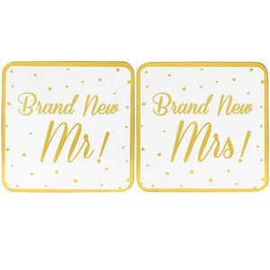 Brand New Mr Mrs Coasters Set2