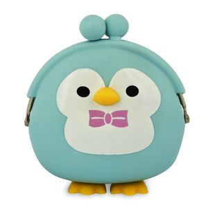 Light Blue Penguin Silicone Purse