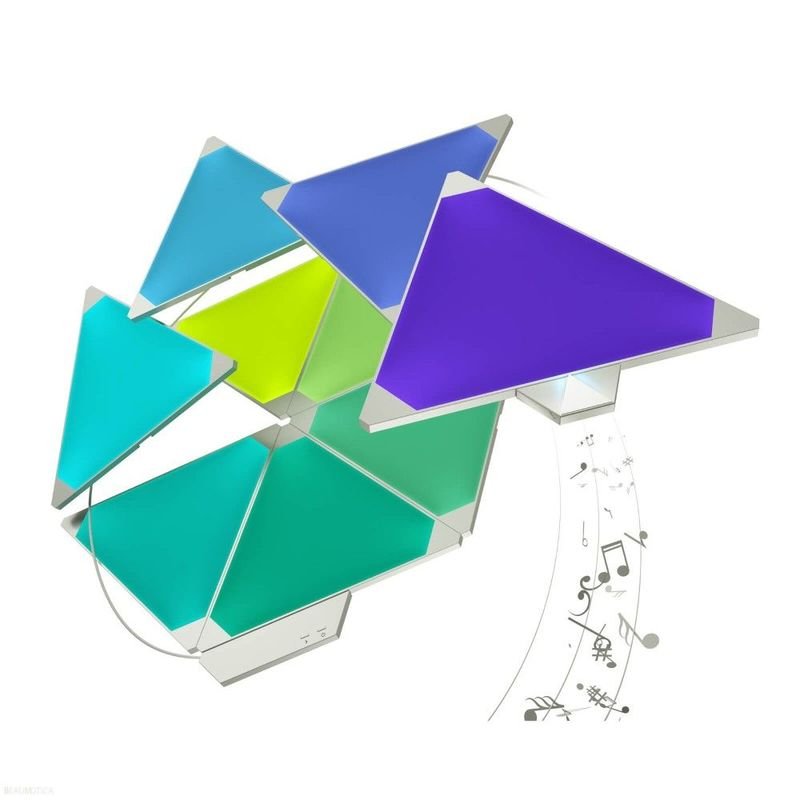 Nanoleaf Light Panels Smarter Kit Rhythm Edition 9 Panels + 1 Controller