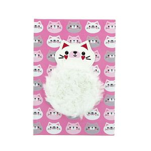 Cat Notebook With Plush Patch