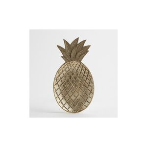 25.5X14Cm  Pineapple Trinket Dish Gold