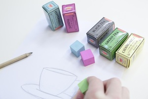 Kikkerland Scented Erasers Tea Set Of 5